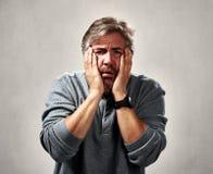 Despaired hopeless man . Royalty Free Stock Photo