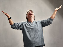 Despaired hopeless man . Royalty Free Stock Photography
