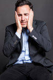 Despaired man Stock Images