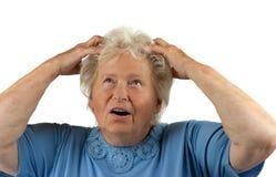Despaired senior woman Stock Photography