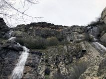 Despeñalagua瀑布 库存照片