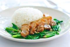 Despeça o vegetal e a carne de porco Fotos de Stock