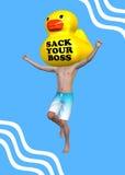 Despeça sua ilustração de Go On Vacation do chefe Fotografia de Stock Royalty Free