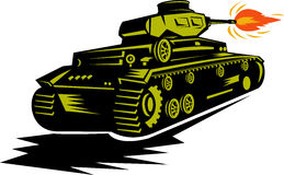 Despedimento do tanque de guerra da segunda guerra mundial Fotografia de Stock Royalty Free