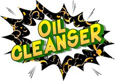 Despedregadora del aceite - palabras del estilo del cómic stock de ilustración