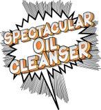 Despedregadora espectacular del aceite - palabras del estilo del cómic ilustración del vector