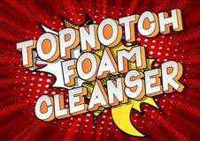 Despedregadora Topnotch de la espuma - palabras del estilo del cómic ilustración del vector