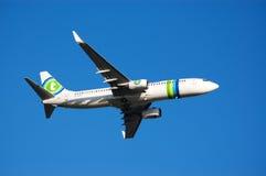 Despegue del aeroplano Imagen de archivo libre de regalías