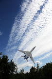 Despegue del aeroplano del pasajero Fotos de archivo libres de regalías