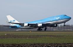 Despegue del Klm Boeing 747 Fotos de archivo libres de regalías