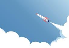 Despegue del vehículo espacial Foto de archivo