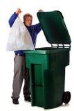 Despejando o lixo Imagem de Stock