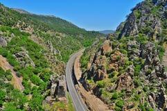 Despenaperros峡谷,西班牙 库存图片