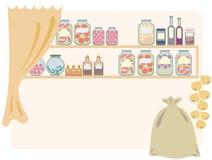 Despensa casera para el alimento. Imagen de archivo libre de regalías