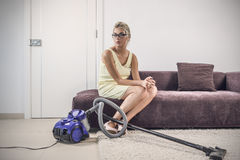 desperacka gospodyni domowa Zdjęcie Royalty Free