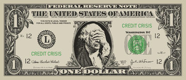 desperat dollar Arkivfoto