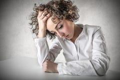 Desperat ung kvinna Arkivbild