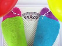 Desperat viktförlust royaltyfri foto