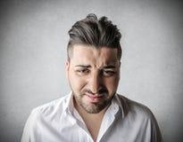 Desperate angry man Stock Photos