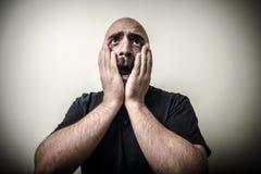 Desperate bearded man Royalty Free Stock Photos
