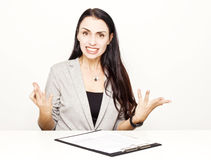 Desperate business woman Stock Image