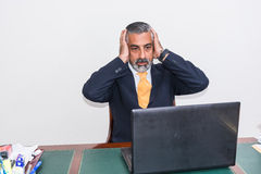 Desperate businessman. Royalty Free Stock Images