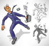 Desperate businessman runs losing Stock Photos