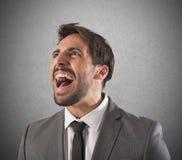 Desperate businessman screams Stock Images