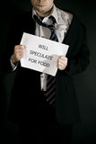 Desperate Businessman Royalty Free Stock Photography