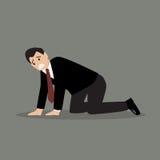 Desperate businessman. Vector Illustration Economic Crisis Stock Image