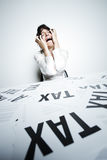 Desperate businesswoman Royalty Free Stock Photography