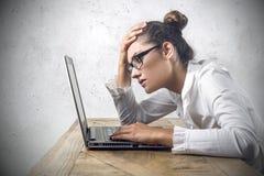 Desperate businesswoman Stock Image