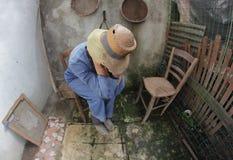 Desperate farmer Stock Photo