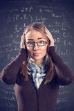 Desperate female student Stock Photos