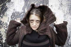Desperate Girl Crazy Stock Photo