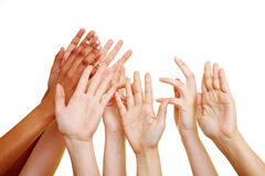 Desperate hands reaching into Royalty Free Stock Images