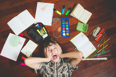 Desperate for Homework Stock Image