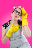 Desperate housewife Stock Photography