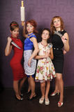 Desperate housewives. Picture-style pin up Stock Photo