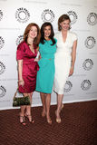 DESPERATE HOUSEWIVES,Dana Delany,Brenda Strong,Teri Hatcher. Dana Delany, Teri Hatcher, and Brenda Strong arriving at the Desperate Housewives PaleyFest09 event Stock Images