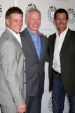 DESPERATE HOUSEWIVES,Doug Savant,James Denton,Neal Mc DONOUGH,Neal McDonough. Doug Savant, Neal McDonough, and James Denton arriving at the Desperate Housewives Royalty Free Stock Image