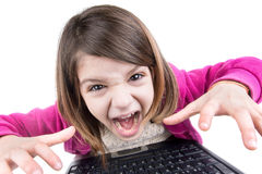 Desperate kid Stock Photography
