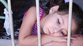 Desperate little girl stock video