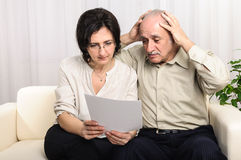 Desperate old man bad agreement Royalty Free Stock Images