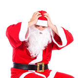 Desperate Santa Claus Stock Photo