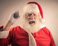 Desperate Santa Claus Royalty Free Stock Photos