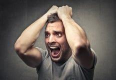 Desperate screaming man Royalty Free Stock Images