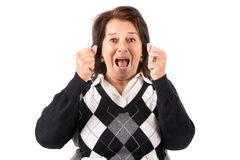 Desperate senior woman Royalty Free Stock Photo