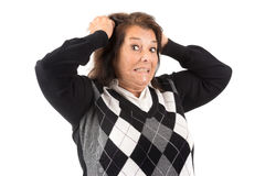 Desperate senior woman Stock Photos