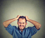 Desperate stressed man Royalty Free Stock Photos